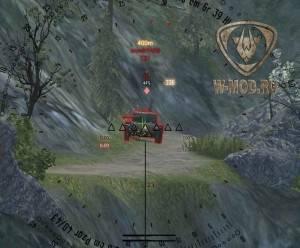 Прицел hardscope в снайперском режиме World of Tanks