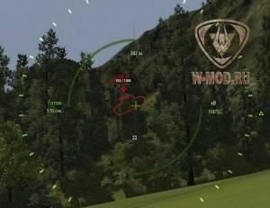Поле зрения в снайперском прицеле при 8х