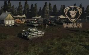 Матильда 4 на фоне военной базы